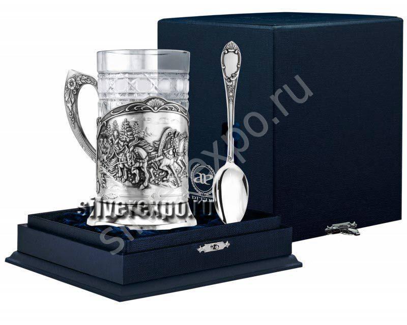 Серебряный набор для чая Тройка Фабрика серебра АРГЕНТА 948ПС00006