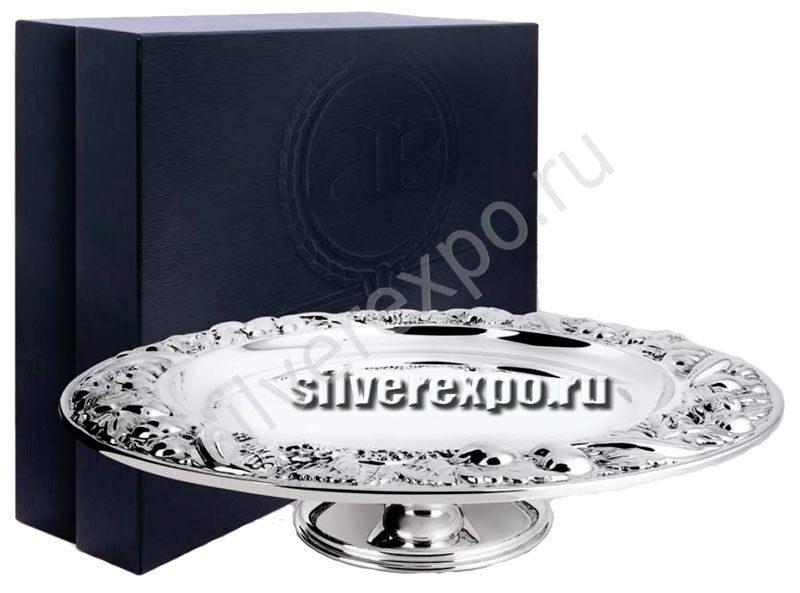 Серебряная ваза фруктовая Greggio Италия 8134392